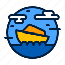 transport, transportation, travel, speedboat, boat icon