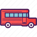 bus, school, transportation, vehicle icon