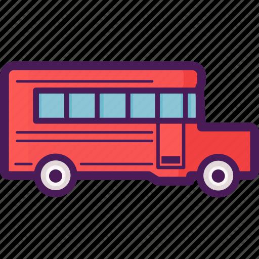 bus, school, transportation, vehicle icon