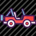 jeep, adventure, land rover icon