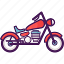 motor, motorcycle, vehicle icon