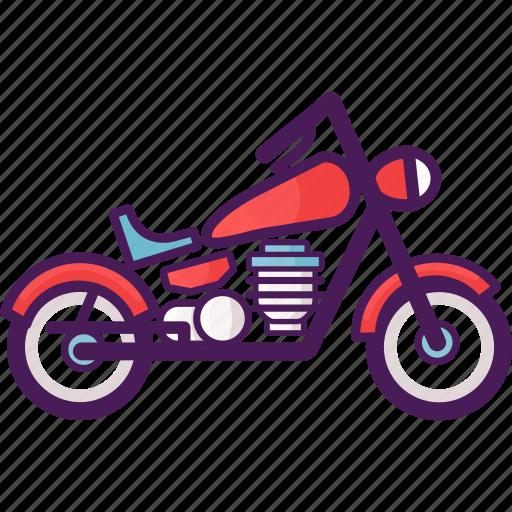 motor, motorcycle, vehicle icon