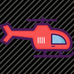helicopter, rotorcraft icon