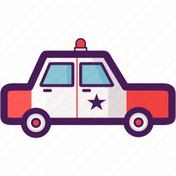 car, cop, criminals, government, police icon
