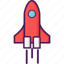 flight, space, spacecraft, spaceship icon