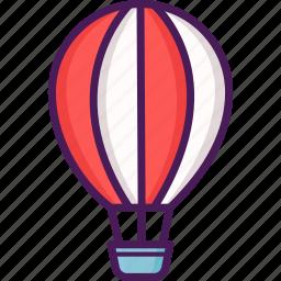 aircraft, flight, hot air balloon, travel icon