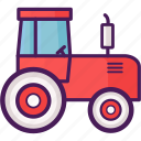 agriculture, farm, rice field, tractor, vehicle icon