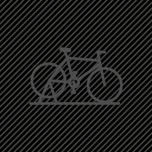 bike, line, transport icon