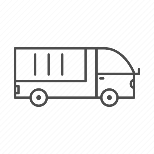 car, line, transport, truck icon