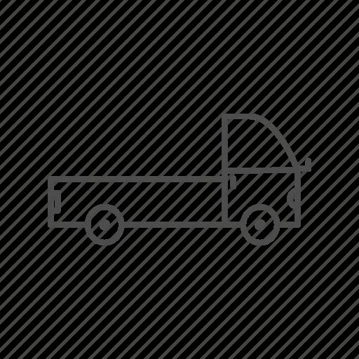 car, line, transport icon