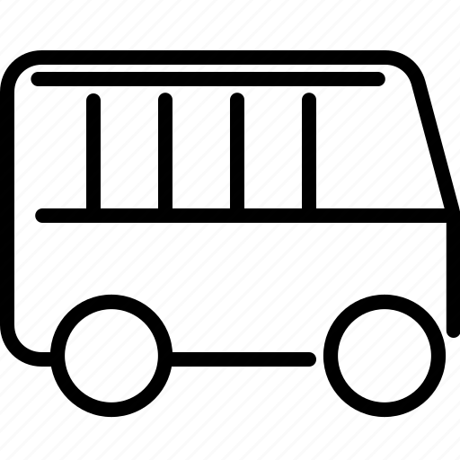 bus, transportation, van icon