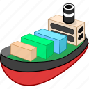 cargo, carry, delivery, ship, shipping, transport icon