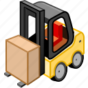 cargo, carry, forklift, transport, transportation, truck icon