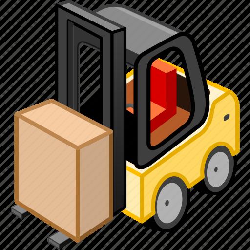 cargo, carry, forklift, transport, transportation, truck icon