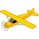 aeroplane, aircraft, airplane, flight, plain, transport, travel icon