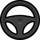 car, steering wheel, transportation, vehicle icon