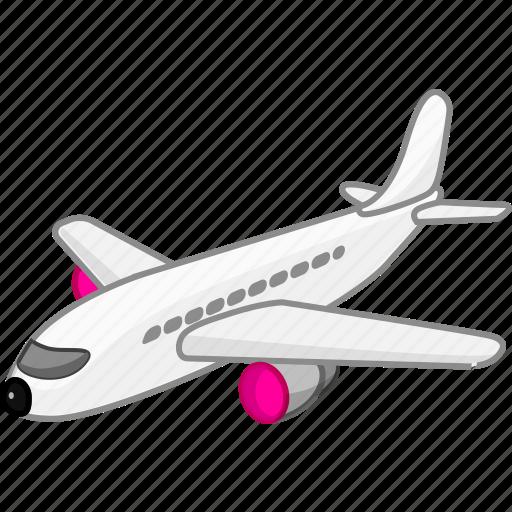 aeroplane, aircraft, airplane, flight, plain, transport, transportation icon