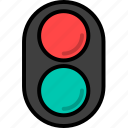 road, traffic, traffic light, transport, transportation icon