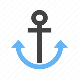 anchor, cruise, dock, port, sailing, ship, travel icon