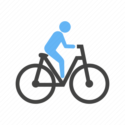 bicycycle, cycling, exercise, fitness, man, ride, transport icon