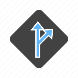 arrow, deviate, deviation, driving, indication, sign, signal icon