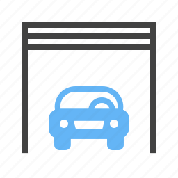 automobile, car, car shop, garage, parking spot, vehicle icon