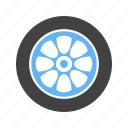 car, circle, rim, rubber tire, tire, transport, wheel icon