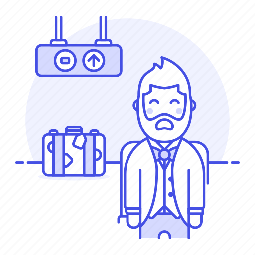 Air, airport, baggage, flight, luggage, male, passenger icon - Download on Iconfinder