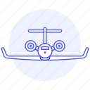 aeroplane, aircrafts, airplane, aviation, flight, jet, personal, plane, sky, transportation icon