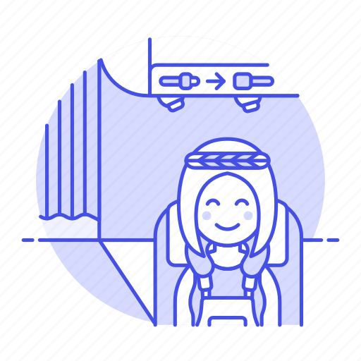 2, air, cabin, flight, male, neck, passenger, passengers, pillow, plane, seated, transportation icon
