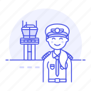 airplane, airport, aviation, captain, female, pilot, pilots, plane, runway, tower, traffic, transportation