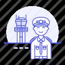 airplane, airport, aviation, captain, male, pilot, pilots, plane, runway, tower, traffic, transportation
