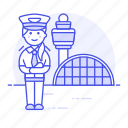 airport, and, aviation, captain, female, hangar, pilot, pilots, plane, terminal, transportation icon
