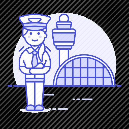 airport, and, aviation, captain, female, hangar, pilot, pilots, plane, terminal, transportation icon