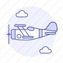 2, air, aircrafts, airscrew, aviation, front, plane, propeller, sky, transportation icon