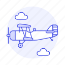 3, air, aircrafts, airscrew, aviation, front, plane, propeller, sky, transportation icon