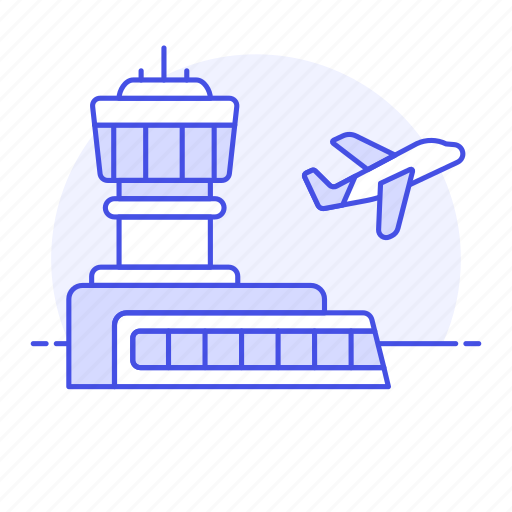 aeroplane, air, aircraft, airplane, airport, building, flight, plane, takeoff, transportation icon