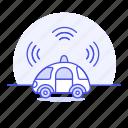 alarm, antenna, autonomous, car, cars, communication, mobile, road, signal, smart, transmitter, transportation