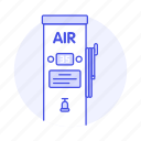 air, automatic, car, gas, maintenance, pump, road, station, transportation icon