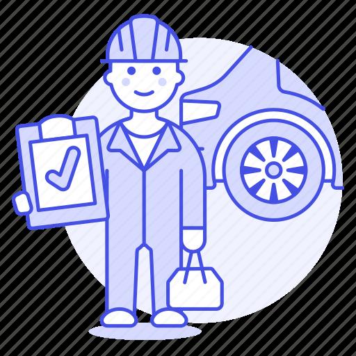 1, car, check, maintenance, male, mechanic, motor, repair, service, transportation icon