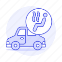 car, features, heater, road, status, transportation icon