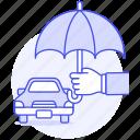 car, financial, hand, insurance, motor, protection, road, transportation, umbrella, vehicle