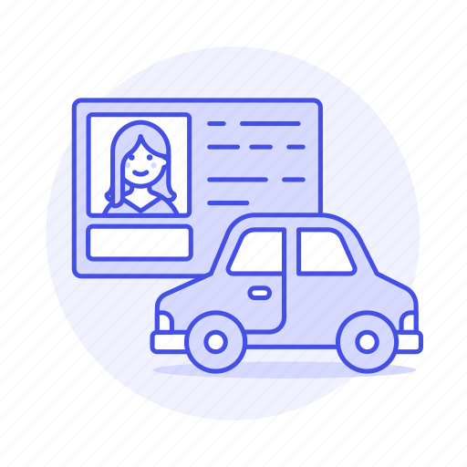 Car, detailstransport, driver, driving, female, id, info icon - Download on Iconfinder