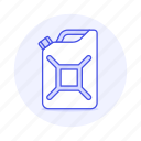canister, fuel, gas, gasoline, land, petrol, road, tank, transport, transportation icon