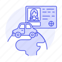 driving, female, global, journey, license, road, transportation, travel, vehicle icon