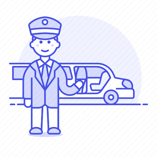 1, chauffeur, event, land, limousine, luxury, male, pickup, taxi, transportation, vehicle icon