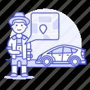 app, car, customer, driver, driving, male, phone, pickup, point, road, transportation, uber