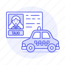 app, cab, car, driver, driving, female, license, road, taxi, taxicab, transportation, vehicle