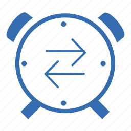 cargo, clock, delivery, time, transportation icon