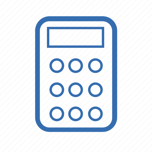 calculator, cargo, delivery, transportation icon